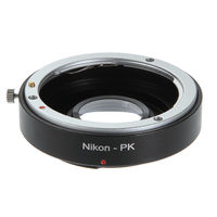 Adapter Ring Infinity focus w/ Glass for Nikon F AI Mount Lens to Pentax PK K K110D K200D K20D Camera