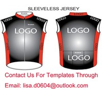 Custom Cycling Vest Sleeveless Jersey Bike Gilets Windproof Customize High Quality Lightly