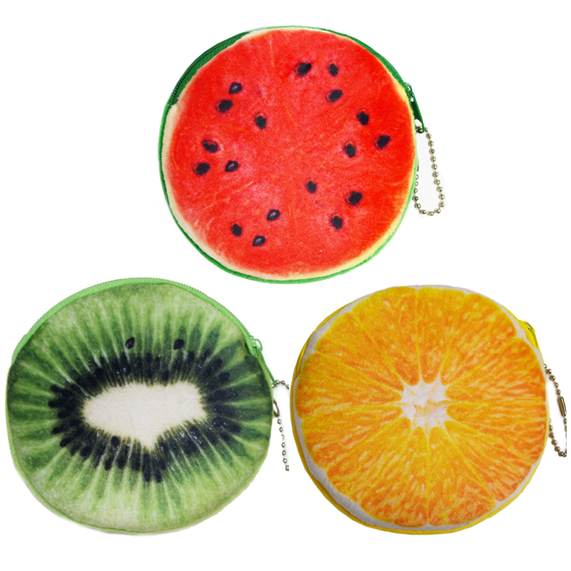 New Design Fruit Wallets Women Coin Purses Children Gifts Mini Watermelon Bags Free Shipping SY3155