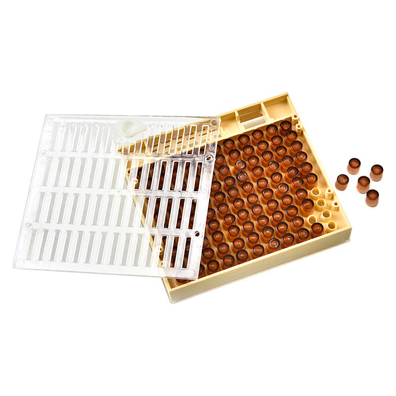 DLKKLB Beekeeping 1 Pcs Nicot Queen Bee Rearing System Beekeeping Cultivate The Queen's Box System Plastic Nicot Cage Tools