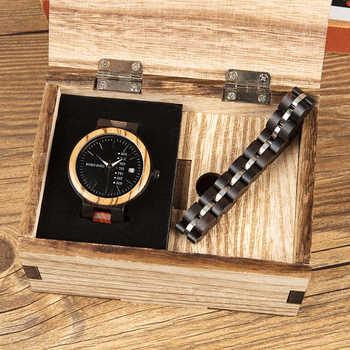 montre femme BOBO BIRD Wooden Women Watches Bracelet Set High Quality Japan Movement Quartz Watch in Wood Box reloj mujer