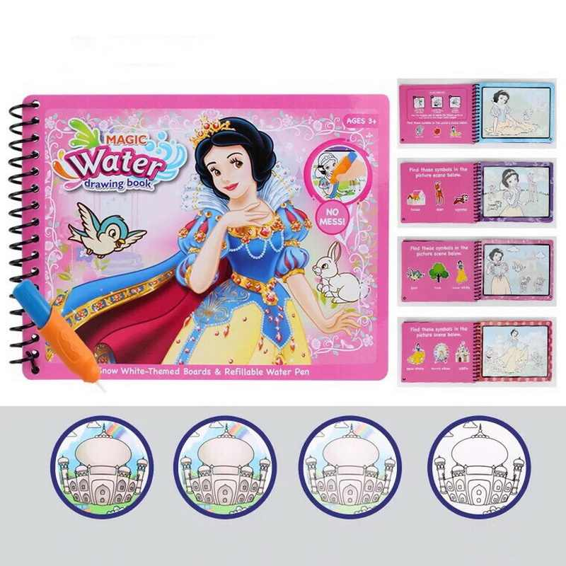 Montessori Pittura Tavolo Da Disegno Per Bambini Giocattoli Regalo Di Compleanno Libro Da Colorare Doodle & Magic Pen Acqua Magica Disegno Libro