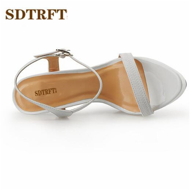 Товар SDTRFT Plus 40-46 47 48 fashion Cosplay ankle strap pumps 16CM ... 6312601eb422