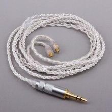 Oyaide Enchufe de Tipo de Línea de Metal de Plata De Alambre De Platino Suave Auricular Cable para Shure SE535 SE425 SE315 SE215 UE900 SE846