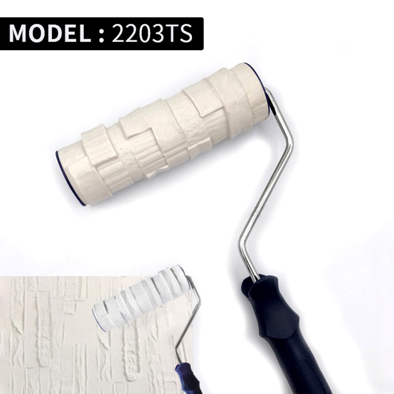 Decorative Paint Roller Patterned Painting Tool for Wall Rubber Protection Stamp Polyurethane Textured Paint Pottery Wheel 2203