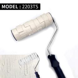 Rolo decorativo da pintura modelado ferramenta de pintura para a proteção de borracha da parede selo de poliuretano textured pintura cerâmica roda 2203