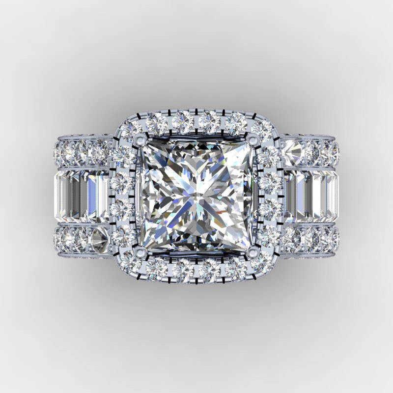 Choucong Vintage Vòng 925 sterling silver Bạc Công Chúa cắt AAAAA cz đá Engagement Wedding nhạc Nhẫn Đối Với Phụ Nữ Ngón Tay Đồ Trang Sức