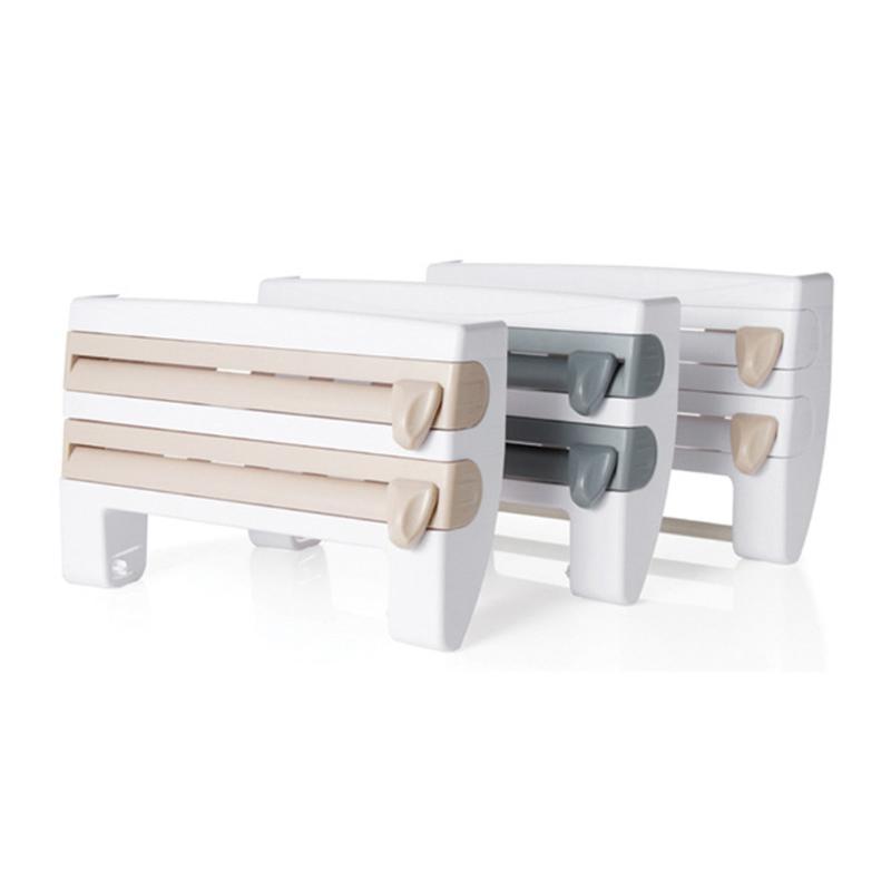 Kitchen Storage Rack Cling Film Sauce Bottle Organizer Paper tin foil paper / oil-absorbing paper Towel Holder Kitchen Tool