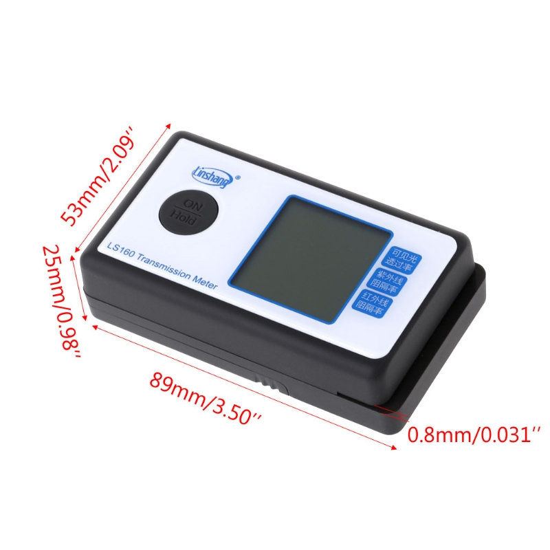 LS160 Portable Solar Film Transmission Meter Window Tint VLT UV IR Rejection
