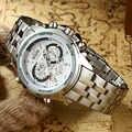 2019 ファッションビジネスの男性クォーツ腕時計トップブランドの高級 TEMEITE カレンダー時計ルミナスハンズ防水フルスチール腕時計