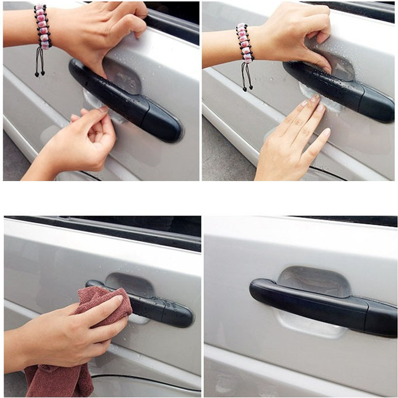 4 pcs/set Universal Invisible Car Door Handle Scratches Automobile Protector Films scratches resistant car Handle Protective
