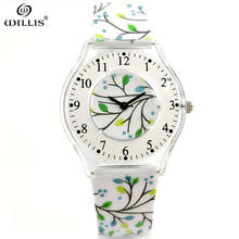 Willis Leisure Brand Quartz Women Waterproof 30m Round Dial Silicone Wristwatch Silicone Fashion Casual Ultra thin Band Watches
