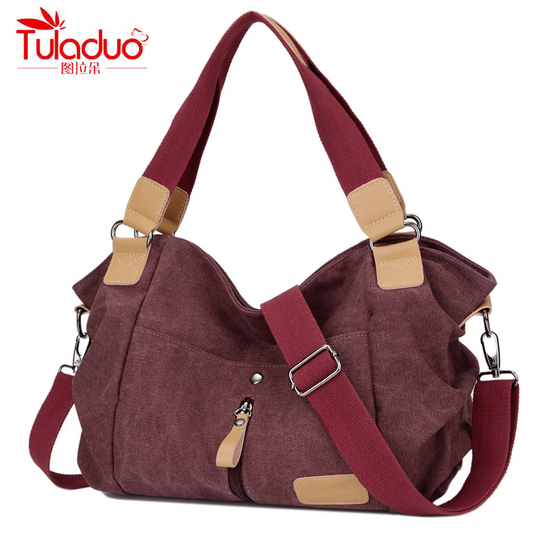2017 Original Fashion Woman Canvas Bags Women Casual Shoulder Bag Famous Brand F
