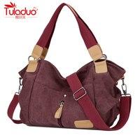2016 TuLaDuo Design Fashion Casual Canvas Women Shoulder Bag Famous Brand Women Messenger Bags Lady Crossbody