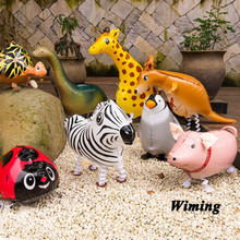 cat walking pet balloon for birthday party supplies penguin pig elephant horse duck frog cow sheep animal