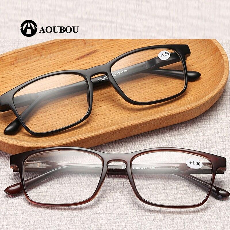 AOUBOU Marque PC Femmes Lunettes de Lecture Hommes Grande vision Redpower Oculos Dioptr Pour Vue Pas Cher Lunettes Loupe Sight AB885