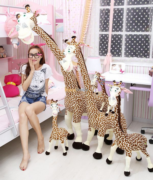 Fancytrader plus grand 71 ''/180 cm Super doux peluche peluche girafe Madagascar jouet, beau cadeau pour les bébés, livraison gratuite FT50155