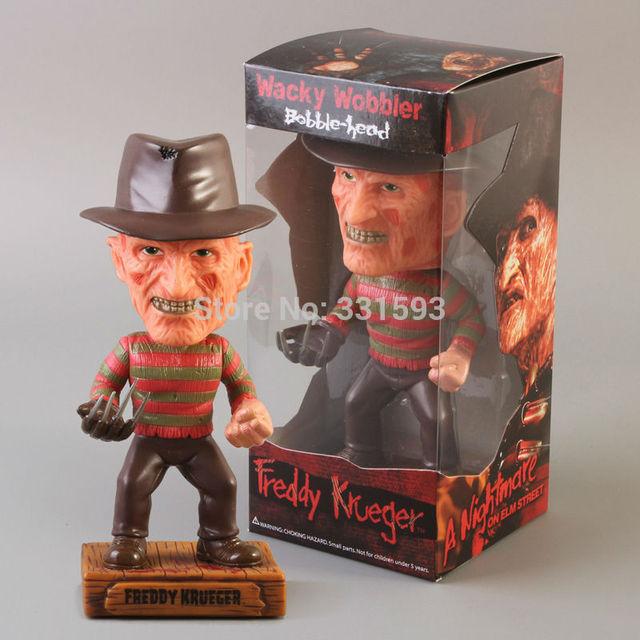 Envío Gratis FUNKO Wacky Wobbler Freddy Krueger Bobble Head PVC Figura de Acción de Juguete FKFG034