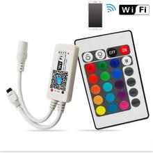 DC12V-24V RGB RGBW Wifi LED Remote Controller Android /IOS Mini + 24Key IR Remote control for SMD 5050 3528 LED Strip Light