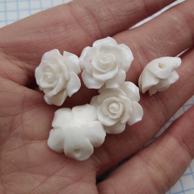 10 шт. мм 15 мм Camelia коралловые бусины Коралловый цветок бусины кабошон белый цвет для изготовления ювелирных изделий