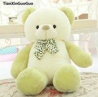 인형 장난감 사랑스러운 나비 넥타이 곰 60 센치메터 녹색 곰 봉제 장난감