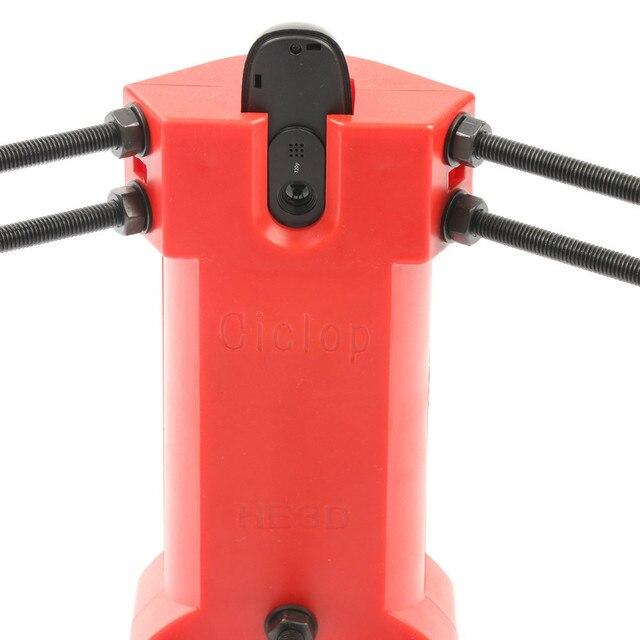 HE3D Open source DIY 3D scanner kit ,advanced laser scanner Red plastic injection molding parts 3