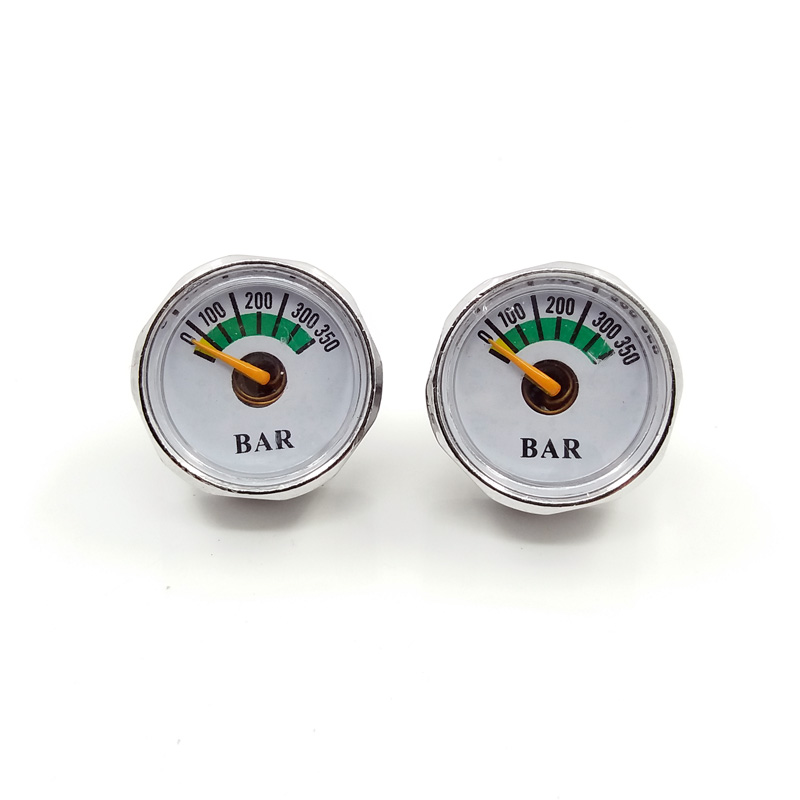 PCP Paintball Air Pressure Gauge 2pcs 350bar Micro Mini Manometre Manometer 1/8npt