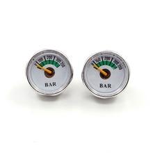 PCP Paintball wiatrówka manometr 2 sztuk 350bar mikro Mini manometr manometru 1/8npt