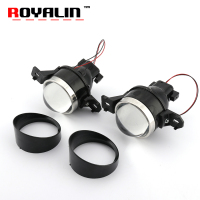ROYALIN Fog Lens Bi Xenon Projector Light For Nissan 3 0 Inch Full Metal Xenon Fog