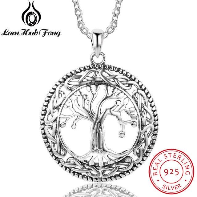 Tree of Life Round Pendant Necklace Women Retro Jewelry Gift
