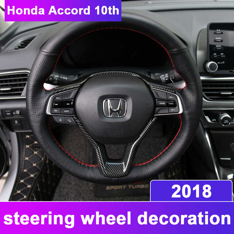 abs chrome car styling steering wheel frame trim sequins sticker interior  moulding covers for honda accord