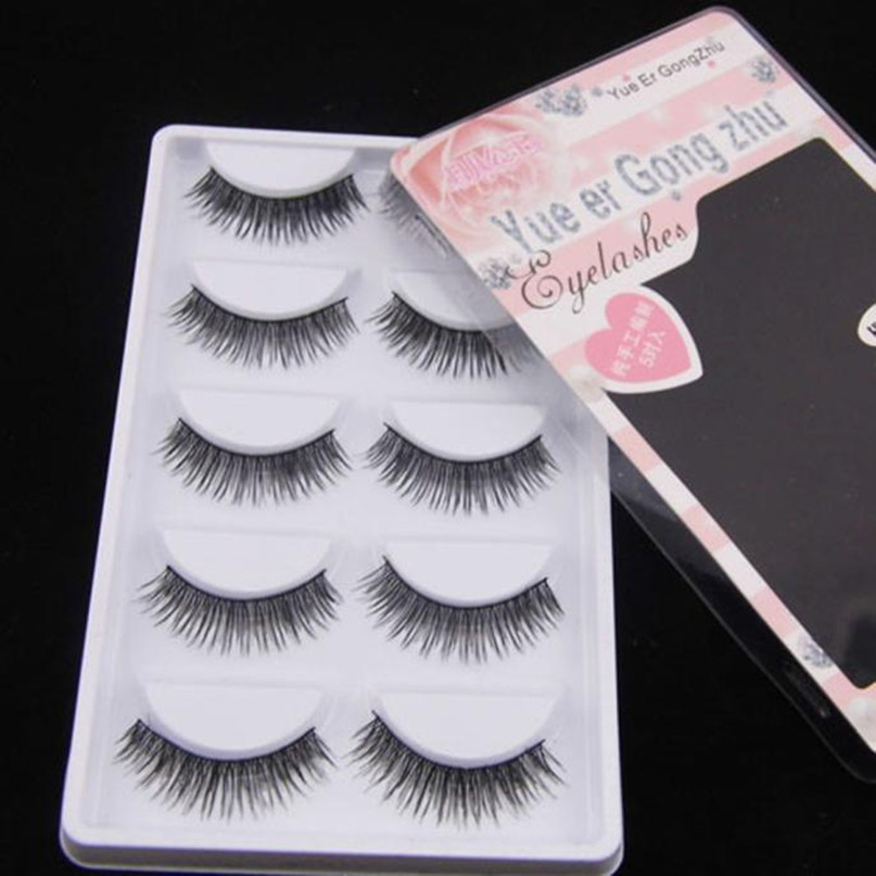 2018 5 Pairs Natural Women Girl False Eye lashes Extend Eyelashes Long Makeup 3D Mink Lashes Eyelashes For Beauty Dropshipping