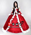 Pandora Hearts Lacie Baskerville Gothic Lolita Uiforms Cosplay costume red Dress