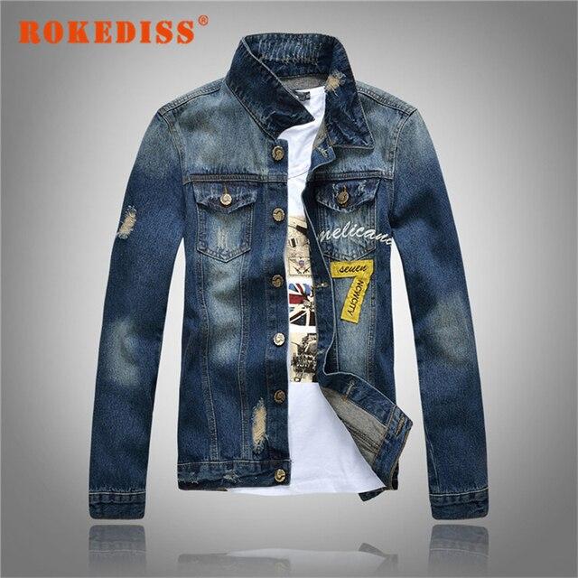 New Arrival 2017 Brand Men's Denim Jackets Men Classic Jeans Denim Jacket Coat fashion leisure jacket coat size M-3XL G319