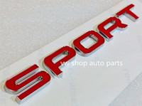 2014 Genuine quality For Range Rover Sport Tailgate Red Letter Badge Emblem *FREE SHIPPING
