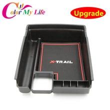 Централизованное Хранение Паллет Подлокотник Box Контейнер Чехол для Nissan X-trail X-Trail X Trail T32 Rogue 2014 2015 2016 Автомобилей аксессуары