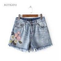 RUTIGEFU קיץ מכנסיים קצרים שמלת שמלת ג 'ינס רקום 2017 אופנה גבירותיי ינס מכנסיים גבוהה מותן טאסל ג' ינס מכנסיים נקבה DY1