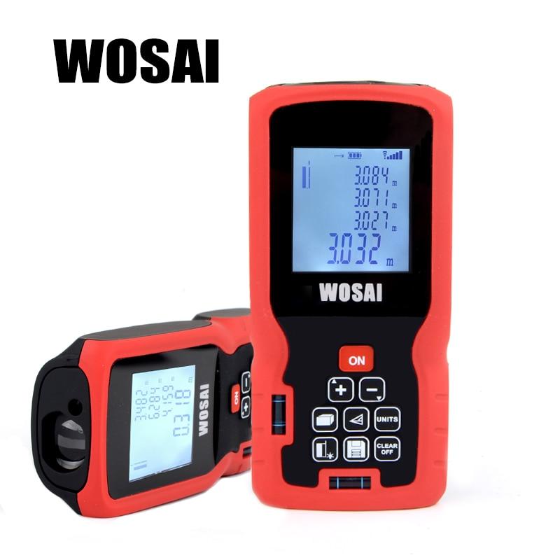 WOSAI Laser Distance Meter 40M 60M 80M 100M 120M Rangefinder Laser Tape Range Finder trena ruler Diastimeter Measure Roulette бандаж ecosapiens es ca2 для поясницы и спины медицинский согревающий с шерстью верблюда размер s 44 46 бежевый