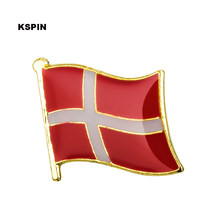 Denmark Bendera Pin Lapel Pin Bros Ikon 1 PC KS-0048(China)