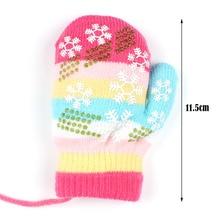 Winter Snowflake Children Gloves Warm Cotton Baby Boy Mittens Kids Print Full Finger Handschoenen Knitted Thicken Girl Gloves
