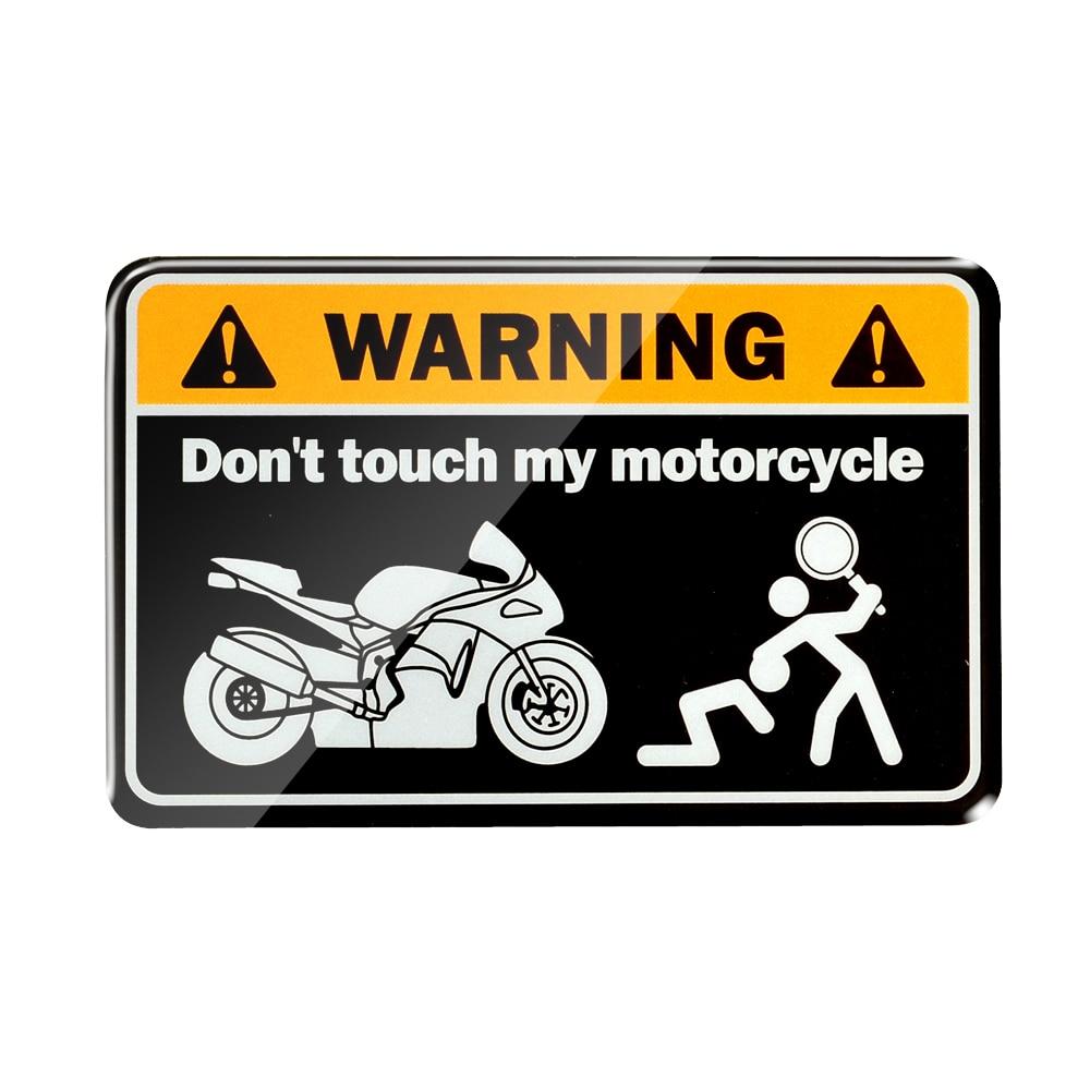 3D Warning Don't Touch My Ninja Motorcycle Decals Tank Stickers Case For Honda Yamaha Suzuki Ktm Ducati BMW Kawasaki Mv Agusta