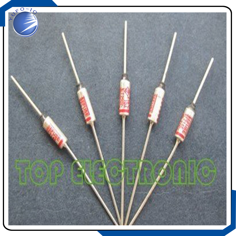 uxcell Thermal Fuse 250V 2A 125 Celsius Degree Temperature Control Double Leads Electrical Circuit Cutoff 20pcs