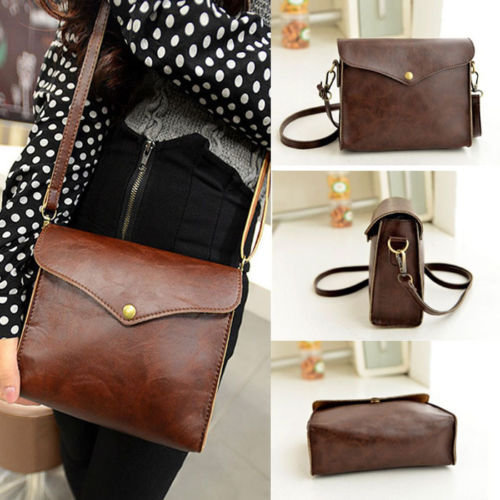 VSEN Hot Luxury Women Leather Shoulder Bag Handbag Tote Purse Hobo Brown Messenger Vintage   Envelope Bag Brown fila жилет утепленный женский fila