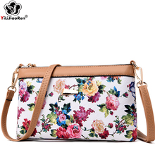 Fashion Rose Pattern Crossbody Bags for Women High Quality Pu Leather Shoulder Bag Luxury Messenger Bag Sac A Main Bolso Mujer