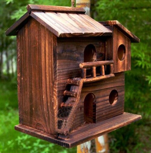 New 25*25*16 Cm Wood Preservative Outdoor Birds Nest Wood Preservative Bird  Nest
