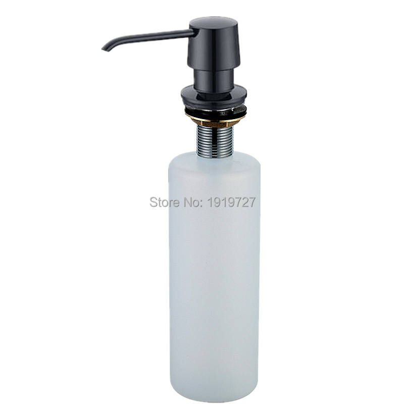 Exceptional Kitchen Sink Soap Dispenser Replacement Bottle #6: New Arrival Deck Mount Kitchen Sink Granite Countertop Hand Pump Replacement  White Liquid Dish Soap Dispenser
