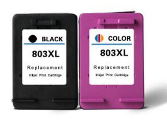2pcs B803XL And 2pcs C803XL  Cartridge Special Use For HP Inkjet Printer Coffee