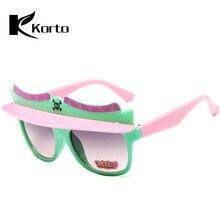 ec4a855efe Kids Sunglasses 2018 Fashion Children Sun Glasses Pink Red Boys Girls Visor Glasses  Brand Eyeglasses High