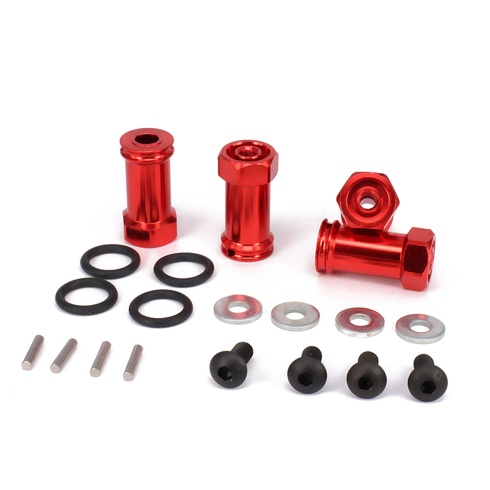 ФОТО aluminum 12 hex drive 25mm extension adapter longer combiner coupler for traxxas slash 5807 short course upgraded hop-up parts