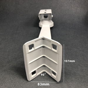 Image 4 - Cctv Beugel Camera Cilindrische Pole Hoepel Beugel Haakse Buitenste Muur Hoek Beugel Montage Ondersteuning Stands Houder Aluminium